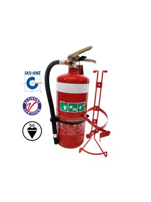 2.5KG DCP FIRE EXTINGUISHER C/W HOSE & VEHICLE BRACKET