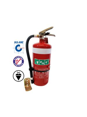 2.5KG DCP FIRE EXTINGUISHER C/W HOSE & WALL BRACKET