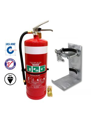 4.5kg DCP extinguisher with heavy duty galvanised vehicle bracket
