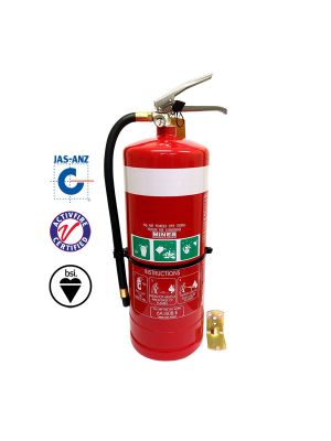 9.0KG DCP FIRE EXTINGUISHER (HIGH PERFORMANCE)  C/W HOSE & STANDARD WALL BRACKET