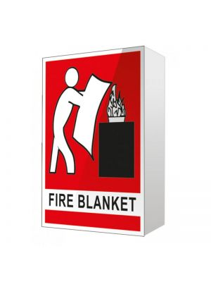 ANGLED FIRE BLANKET LOCATION SIGN - 150MM X 225MM
