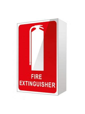 ANGLED FIRE EXTINGUISHER LOCATION SIGN - RIGHT ANGLED (150MM X 225MM)