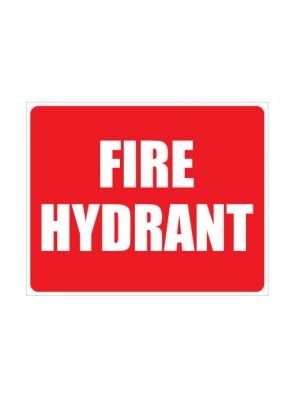 FIRE HYDRANT SIGN - LOCATION - 150MM X 225MM
