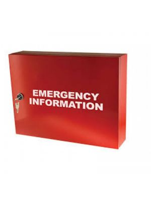 EMERGENCY INFORMATION CABINET - 460MM X 350MM X 100MM DEEP