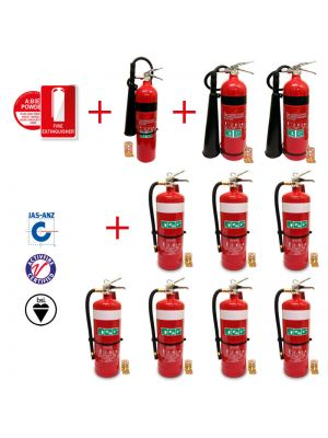 pack of 5 x 5kg CO2 fire extinguishers