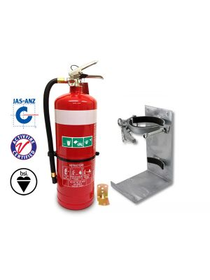 4.5kg DCP ABE Vehicle Extinguisher w Galvanised Bracket