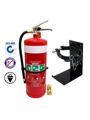 9kg DCP Fire Extinguisher High Performance with Galvanised Vehicle Bracket
