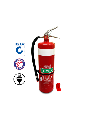 4.5KG ABE FIRE EXTINGUISHER (HIGH PERFORMANCE) C/W HOSE & STANDARD WALL BRACKET