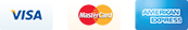 Visa, Mater Card, American Express accepted